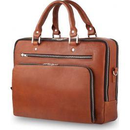 SOLIER Luxusní kožená taška na notebook (SL24 VINTAGE BROWN) Velikost: univerzální