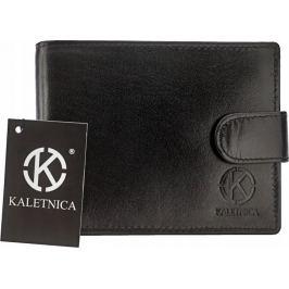 BASIC Pánská kožená černá peněženka RFID (PL-103L-KNC-KALETNICA) Velikost: univerzální