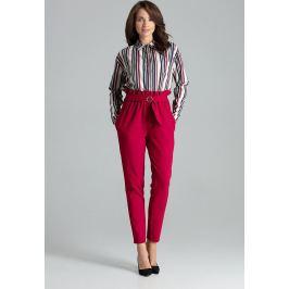 LENITIF Elegantní kalhoty L056 Deep Red Velikost: S