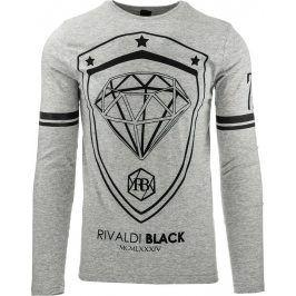 BASIC Šedé tričko (lx0372) velikost: L, odstíny barev: šedá