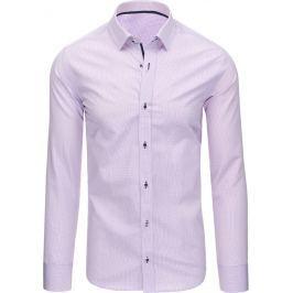 BASIC Pánská růžová košile (dx1372) velikost: L, odstíny barev: růžová