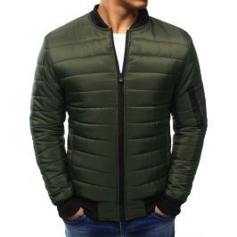 BASIC Pánská zelená prošívaná bunda (tx1963) velikost: M, odstíny barev: zelená