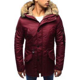 BASIC Pánská červená bunda s kapucí (tx1970) velikost: 2XL, odstíny barev: červená