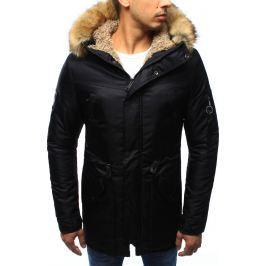 BASIC Pánská černá bunda s kapucí (tx1971) velikost: 2XL, odstíny barev: černá