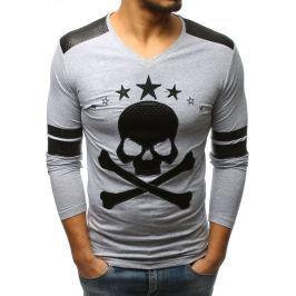 BASIC Šedé tričko (lx0379) velikost: S, odstíny barev: šedá