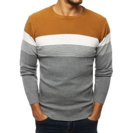 BASIC Žluto-šedý svetr (wx1330) Velikost: M