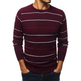BASIC Pánský svetr vínové barvy (wx1334) Velikost: M