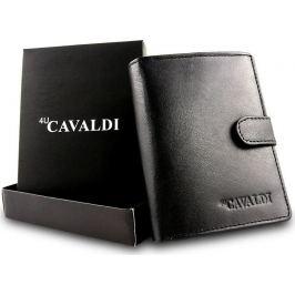 4U CAVALDI Cavaldi Elegantní černá peněženka 0800L-BS Velikost: univerzální