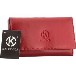 Dámská červená kožená peněženka 55020-KALETNICA Velikost: univerzální