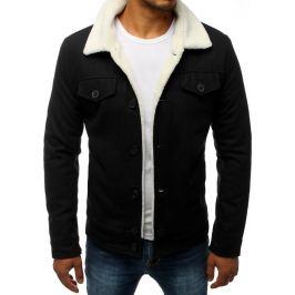BASIC Pánská bunda s kožíškem - černá (tx2829) Velikost: S