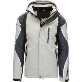 BASIC Pánská šedá bunda (tx1887) velikost: M, odstíny barev: šedá