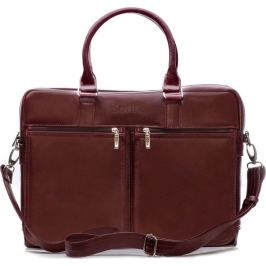Pánská kožená bordová taška SOLIER (SL01 BROWN-MAROON) Velikost: univerzální
