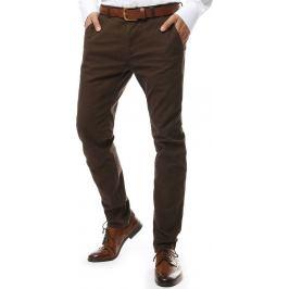 BASIC Tmavě béžové společenské kalhoty (ux2134) Velikost: 28