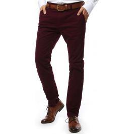 BASIC Bordó společenské kalhoty  (ux2135) Velikost: 28