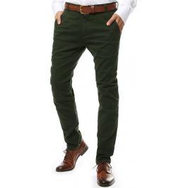 BASIC Zelené společenské kalhoty (ux2137) Velikost: 28