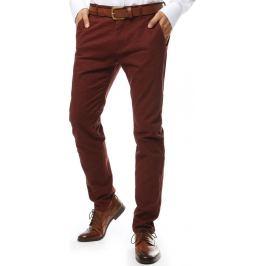 BASIC Kaštanově hnědé  společenské kalhoty (ux2140) Velikost: 28