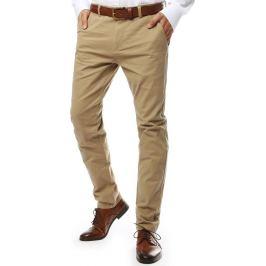 BASIC Béžové  společenské kalhoty (ux2141) Velikost: 28