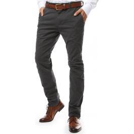 BASIC Šedé společenské kalhoty (ux2142) Velikost: 28