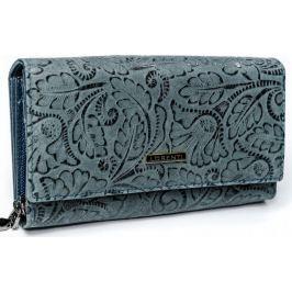 Lorenti šedá kožená peněženka RFID  (76111-KCR RFID GRAY) Velikost: univerzální