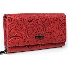 Lorenti červená kožená peněženka RFID (76111-KCR RFID RED) Velikost: univerzální