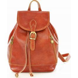 MAZZINI VALENTINO Kožený batoh hnědé barvy (pl33a) Velikost: univerzální