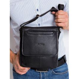 Pierre Andreus černá kožená taška (013-NDM-PA BLACK) Velikost: univerzální