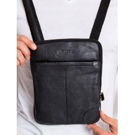 Pierre Andreus černá kožená taška (014-NDM BLACK) Velikost: univerzální