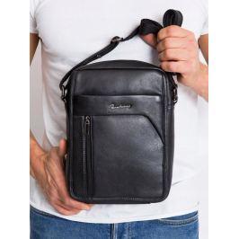 Pierre Andreus černá kožená taška (502-NDM-PA BLACK) Velikost: univerzální