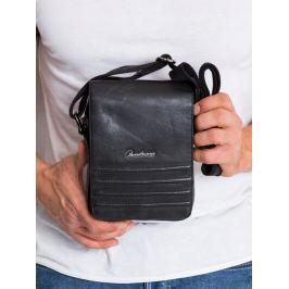 Pierre Andreus černá kožená taška (503-NDM-PA BLACK) Velikost: univerzální