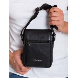 Pierre Andreus černá kožená taška (504-NDM-PA BLACK) Velikost: univerzální