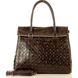 MARCO MAZZINI tmavě hnědá shopper kabelka (346s) Velikost: univerzální