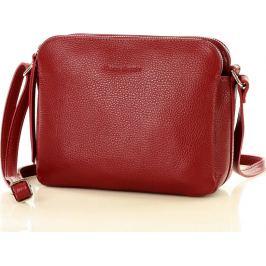 MARCO MAZZINI dvoukomorová kožená kabelka - červená (l156m) Velikost: univerzální