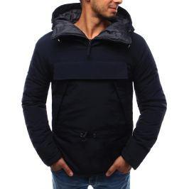 BASIC Pánská tmavě modrá bunda s kapucí (tx1729) velikost: 2XL, odstíny barev: modrá