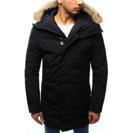 BASIC Pánská černá zimní bunda s kapucí (tx2005) velikost: XL, odstíny barev: černá