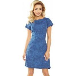 NUMOCO Dámské modré džínové šaty 155-1 velikost: S, odstíny barev: modrá