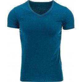 BASIC Pánské modré tričko (rx0001) velikost: M, odstíny barev: modrá