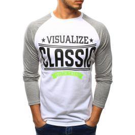 BASIC Pánské tričko s dlouhým rukávem (lx0429) velikost: XL, odstíny barev: bílá