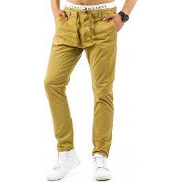 BASIC Pánské pískové kalhoty (ux0654) velikost: 34, odstíny barev: béžová