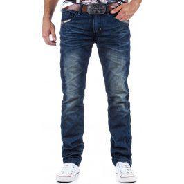 BASIC Pánské modré džíny (ux0324) velikost: 28, odstíny barev: modrá