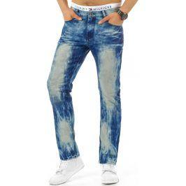 BASIC Pánské modré džíny (ux0660) velikost: 28, odstíny barev: modrá