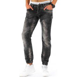 BASIC Pánské černé džíny (ux0681) velikost: 36, odstíny barev: černá