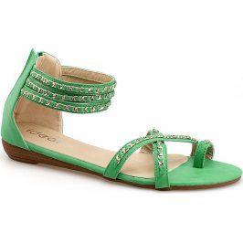 Zelené sandály V9822 velikost: 37, odstíny barev: zelená
