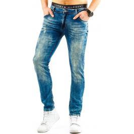 BASIC Pánské modré džíny (ux0682) velikost: 29, odstíny barev: modrá