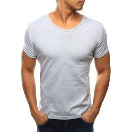 BASIC Pánské šedé tričko (rx2590) velikost: S, odstíny barev: šedá