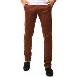 BASIC Pánské cihlové kalhoty (ux1036) velikost: 29, odstíny barev: hnědá