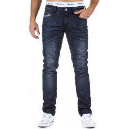 BASIC Pánské námořnické džíny (ux0326) velikost: 28, odstíny barev: modrá