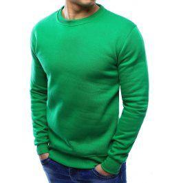 BASIC Pánská zelená mikina (bx2000) velikost: M, odstíny barev: zelená