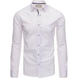BASIC Bílá pánská košile (dx1391) velikost: 2XL, odstíny barev: bílá