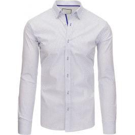 BASIC Bílá pánská košile (dx1392) velikost: XL, odstíny barev: bílá