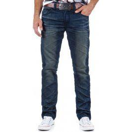 BASIC Pánské modré džíny (ux0330) velikost: 28, odstíny barev: modrá
